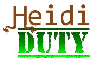 Heidi Duty Branded login screen logo