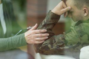 Caregiver assisting vet